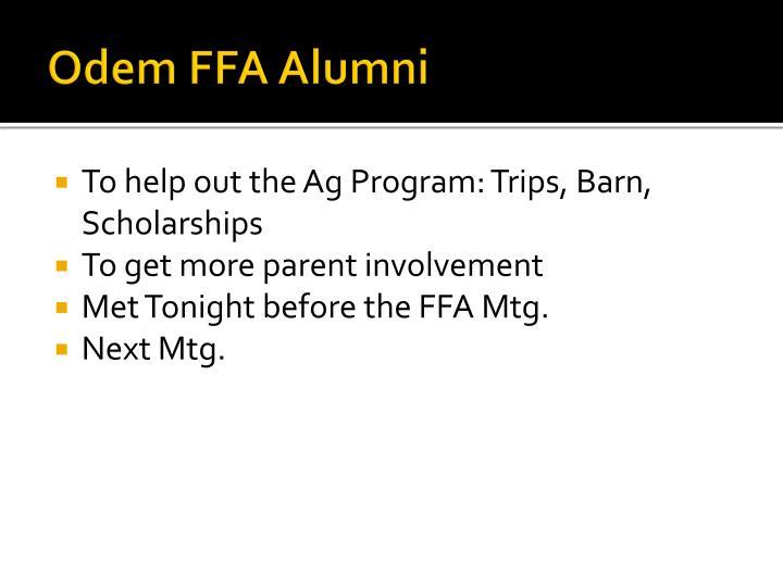 Odem FFA Alumni