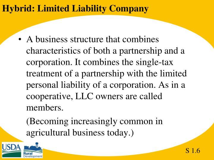 Hybrid: Limited Liability Company