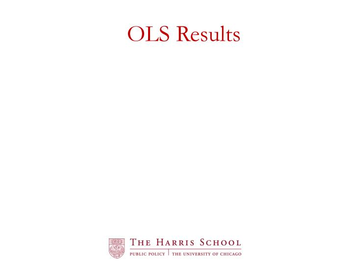 OLS Results