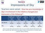 impressions of sky