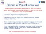 opinion of project incentives1