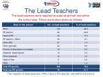 the lead teachers