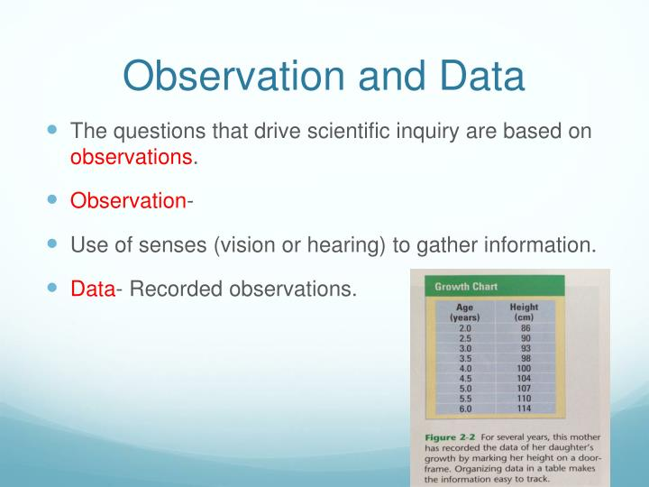 Observation and Data