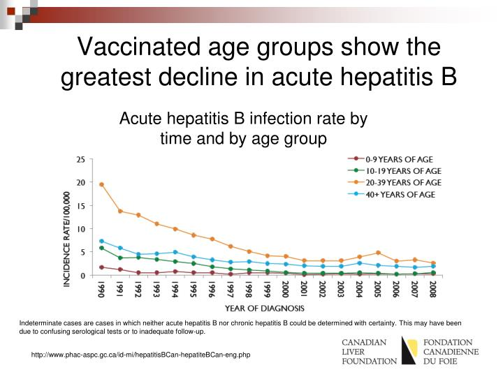 Vaccinated age groups show the greatest decline in acute hepatitis B