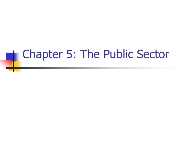 Chapter 5 the public sector