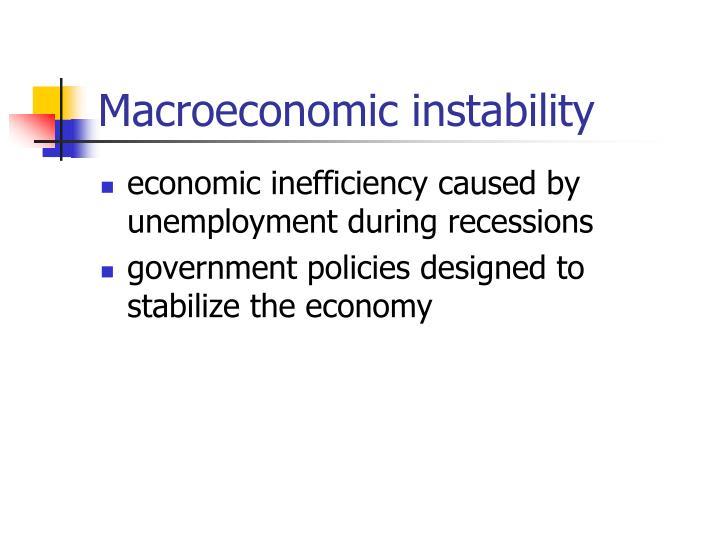 Macroeconomic instability