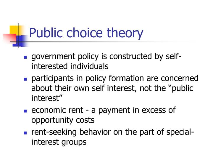 Public choice theory