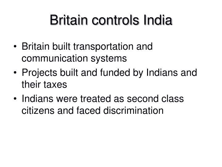 Britain controls India