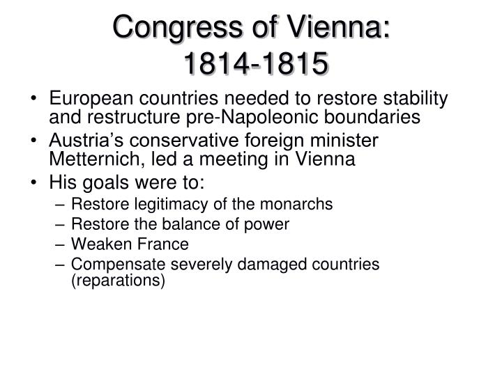 Congress of Vienna: