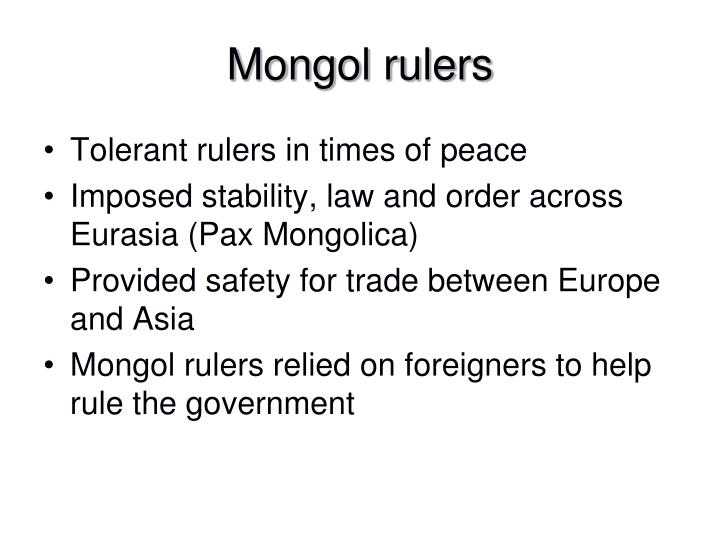 Mongol rulers