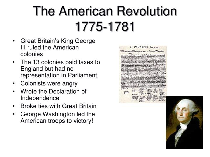 Great Britain's King George III ruled the American colonies