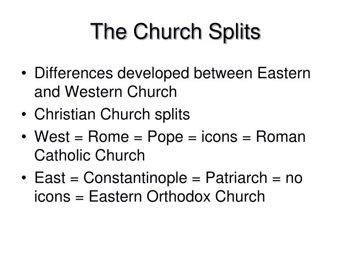The Church Splits