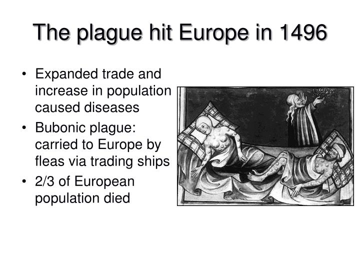 Expanded trade and increase in population caused diseases