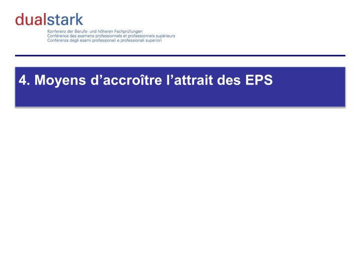 4. Moyens d'accroître l'attrait des EPS