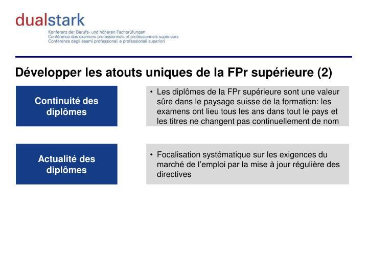 Développer les atouts uniques de la FPr supérieure (2)
