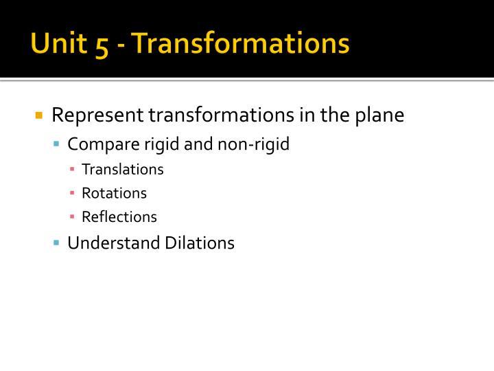 Unit 5 - Transformations