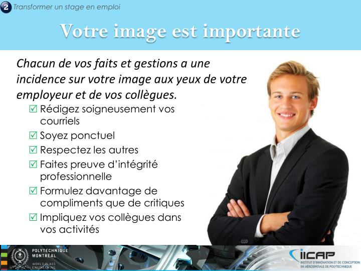 Votre image est importante