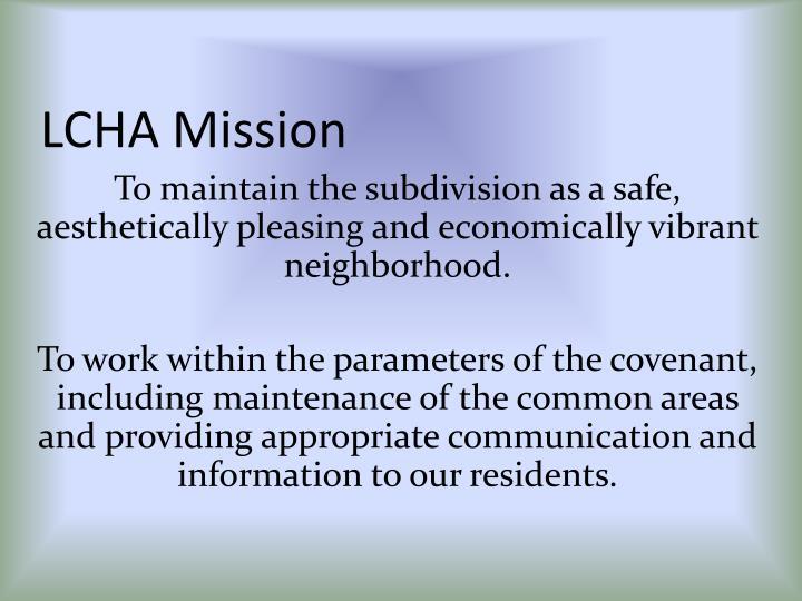 LCHA Mission