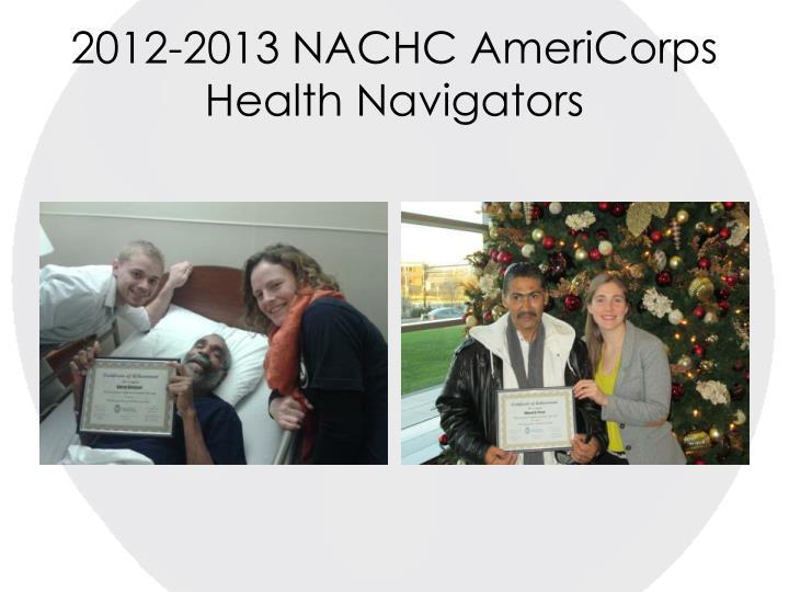 2012-2013 NACHC AmeriCorps Health Navigators