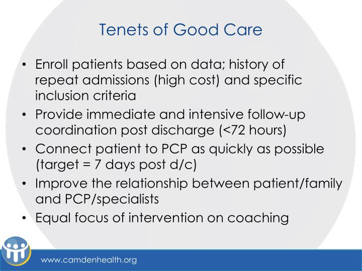 Tenets of Good Care