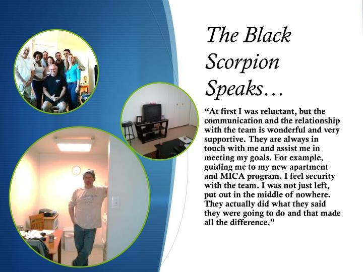 The Black Scorpion Speaks…