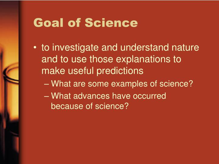 Goal of Science