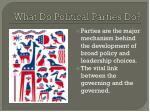 what d o political parties do