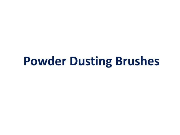 Powder Dusting Brushes