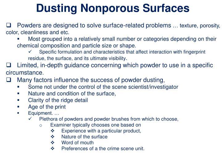 Dusting Nonporous