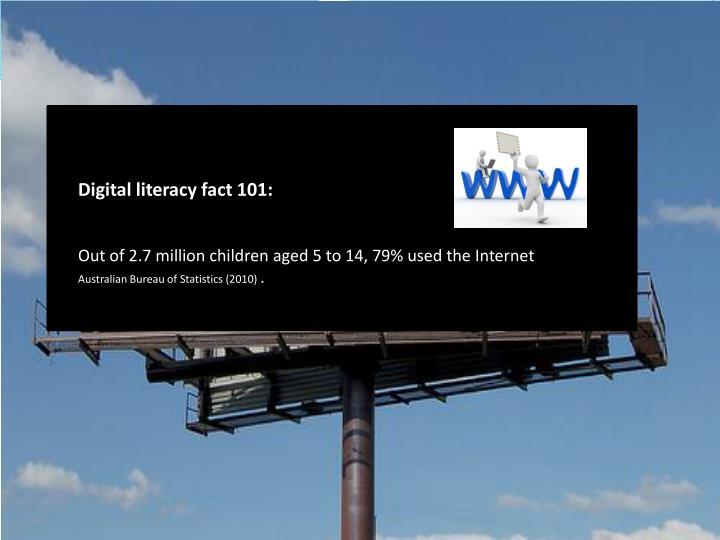 Digital literacy fact 101: