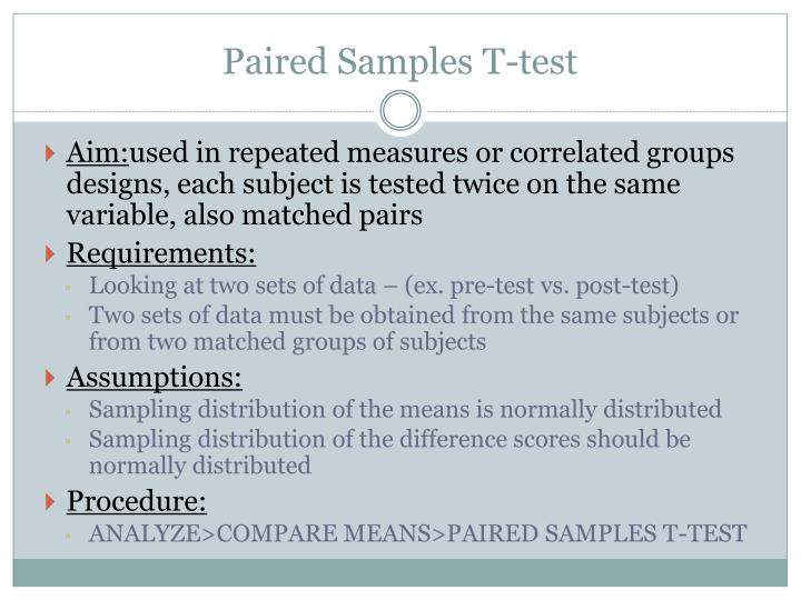 Paired Samples T-test