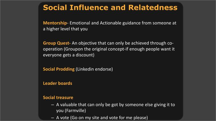 Social Influence and Relatedness