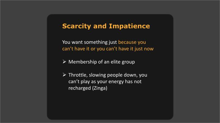 Scarcity and Impatience