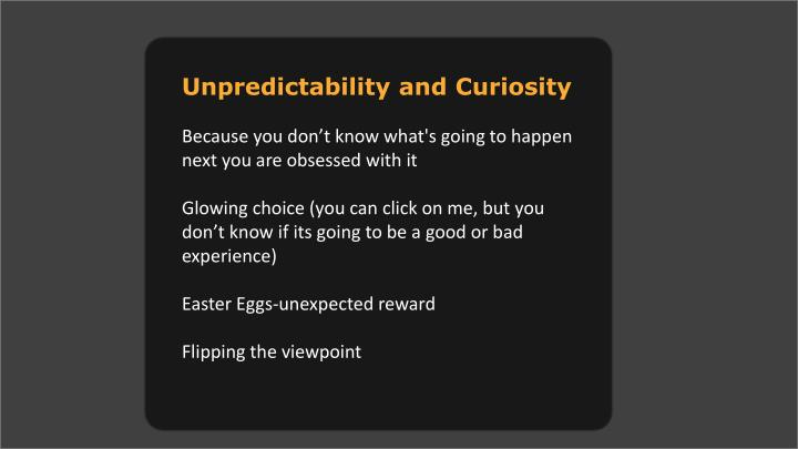 Unpredictability and Curiosity