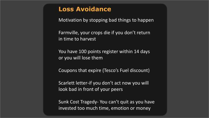 Loss Avoidance