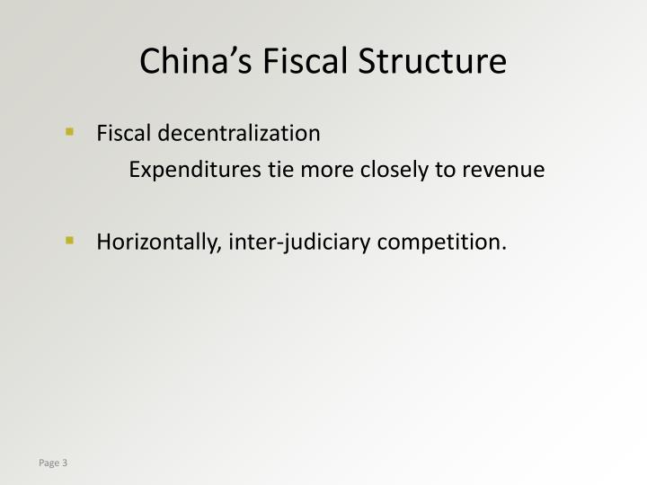 China's Fiscal Structure