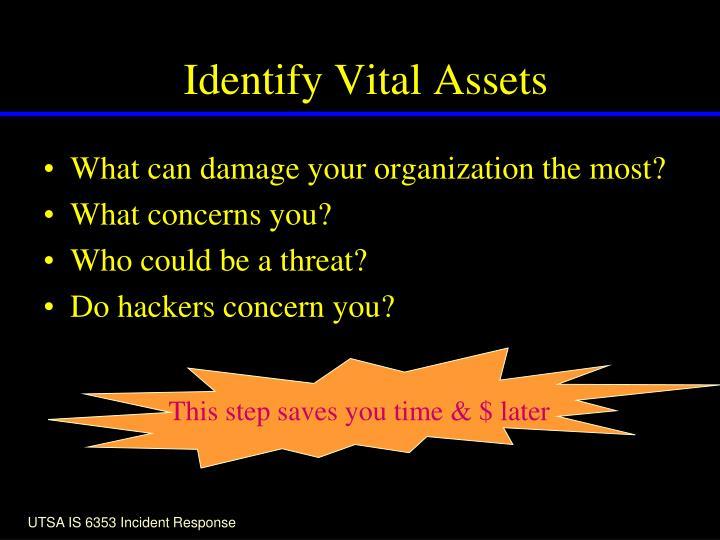 Identify Vital Assets