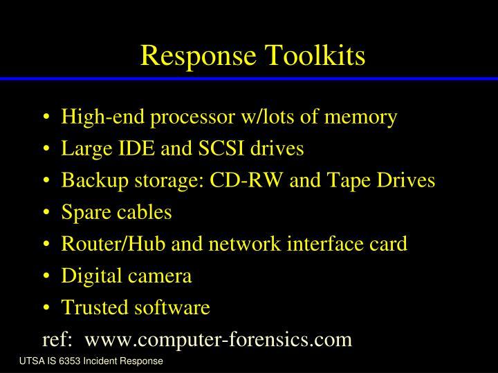 Response Toolkits