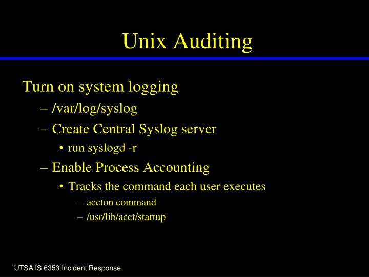 Unix Auditing