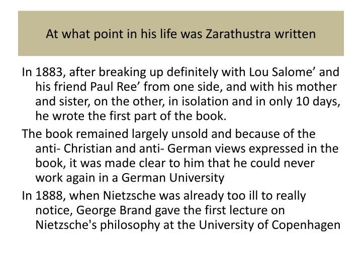 Zarathustra Contempt