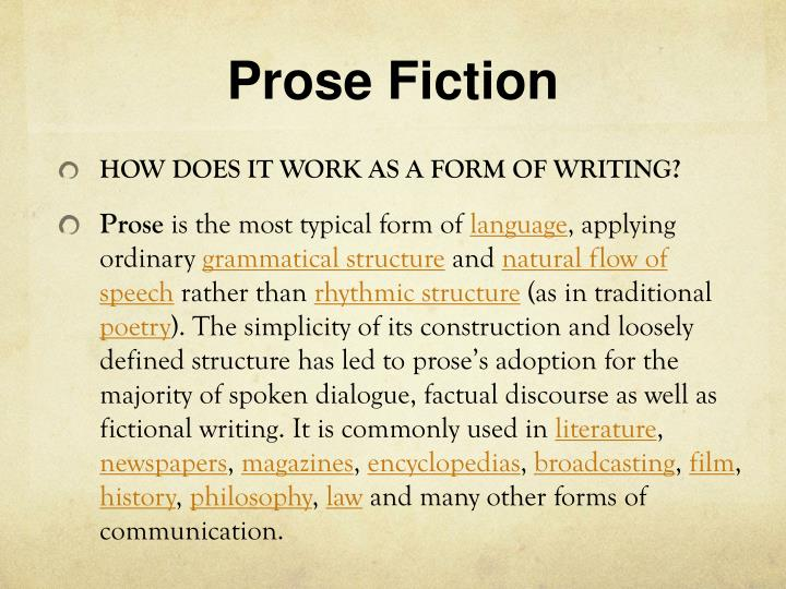 Prose fiction1