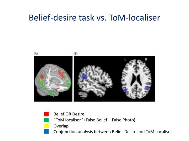 Belief-desire task vs.