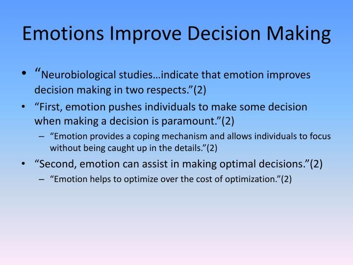 Emotions Improve