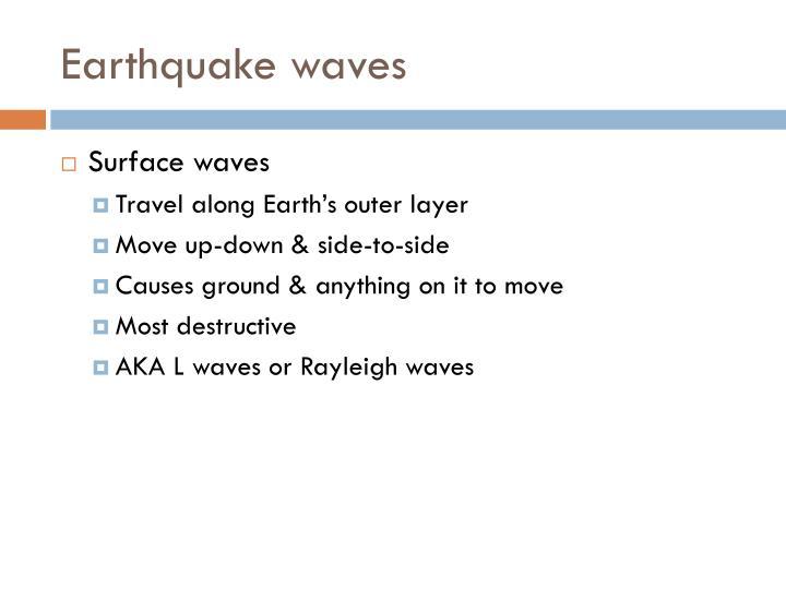 Earthquake waves