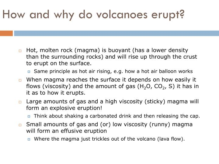 How and why do volcanoes erupt?