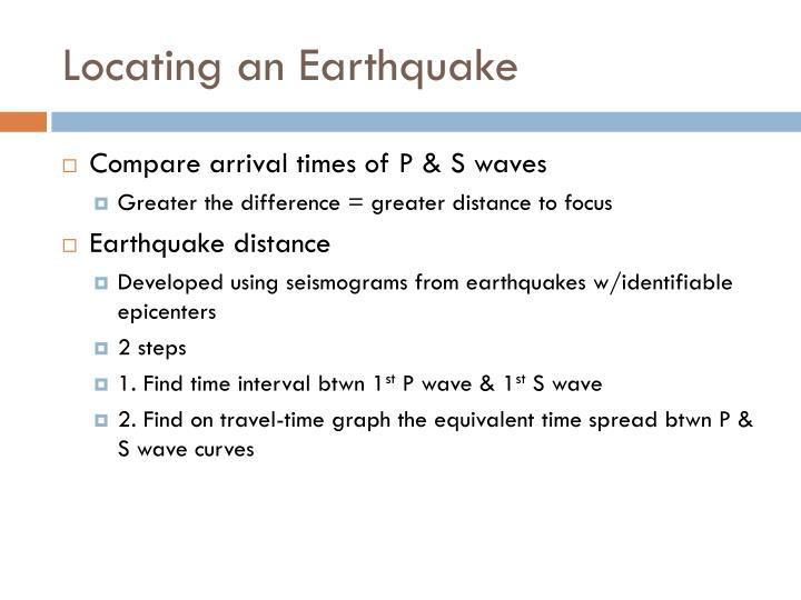 Locating an Earthquake