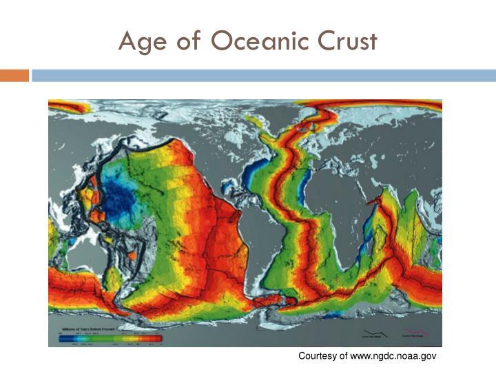 Age of Oceanic Crust