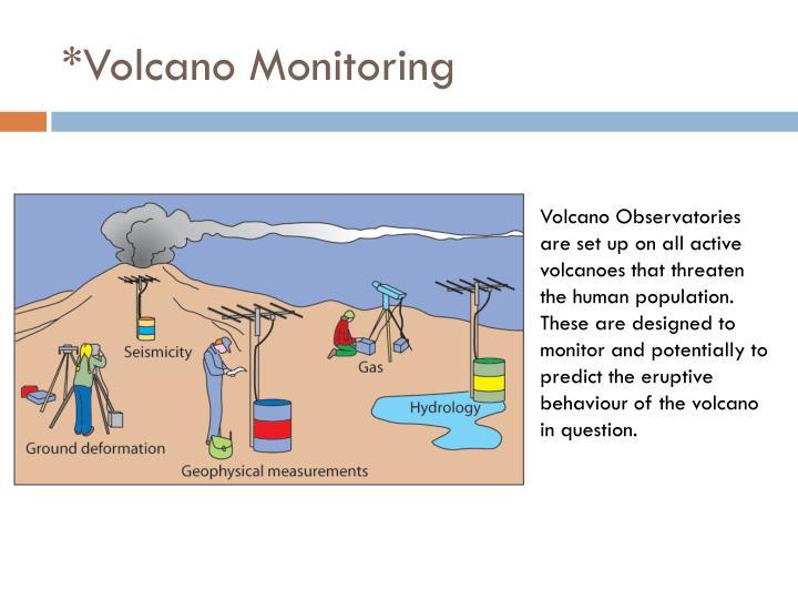 *Volcano Monitoring