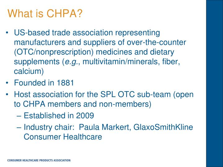 What is CHPA?
