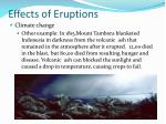 effects of eruptions